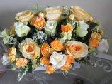 Shop Hoa  Trang Trí   - Chậu gỗ hình chữ nhật: hồng vàng, xanh nhạt, Lavender trắng xanh