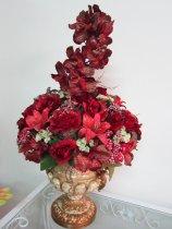 Shop Hoa  Trang Trí   - Chậu Poly:  Lan vandain, lyly, hồng